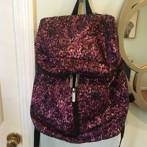 Le Sportsac purple and black backpack